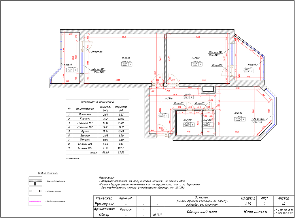 Дизайн-проект двухкомнатной квартиры п-44 тм в москве.