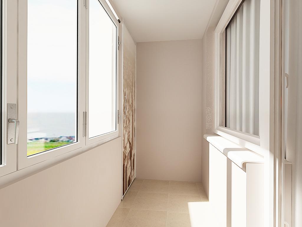Интерьер балкона п44т.