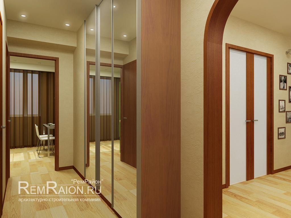 Дизайн трехкомнатной квартиры п-3