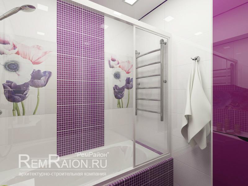 Дизайн ванной комнаты п44т ванная комната полосы фото