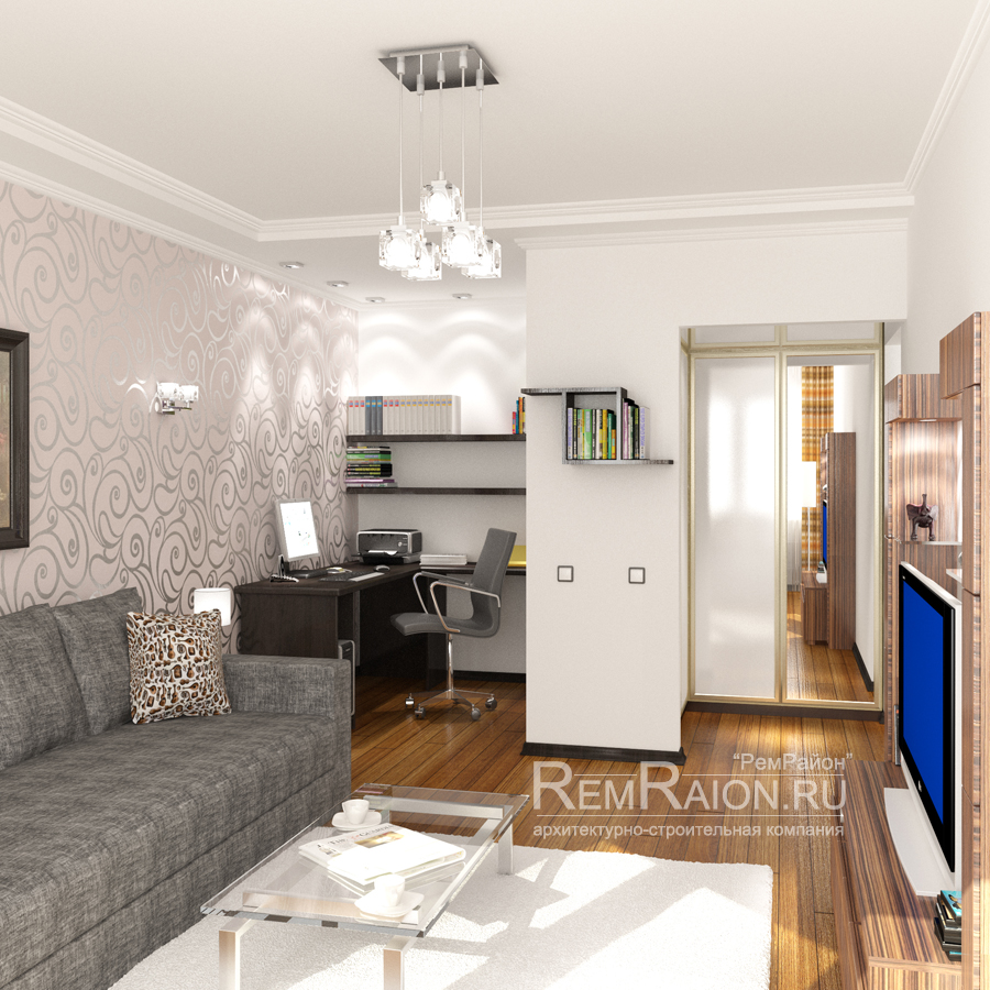 Дизайн двухкомнатной хрущевки - Квартира