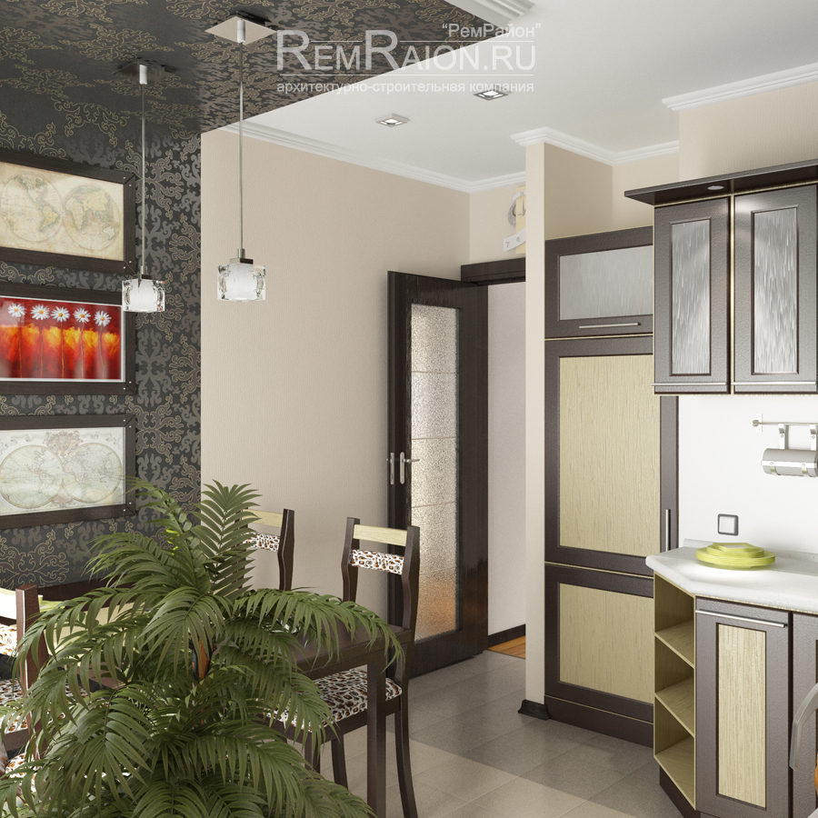 Дизайн-проект однокомнатной квартиры.
