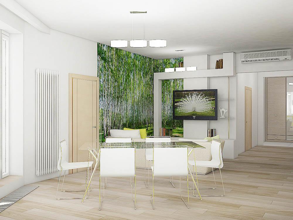 дизайн квартиры трехкомнатной